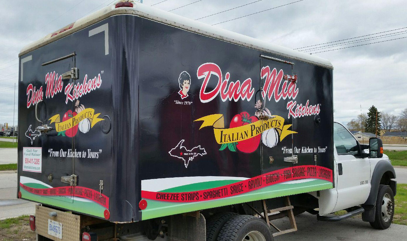 Dina Mia delivery truck in Wisconsin and Michigan