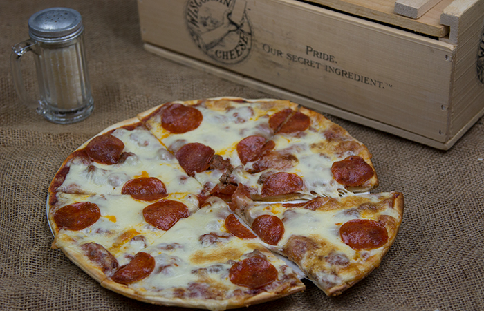Sausage and Pepperoni Pizza from Dina Mia Kitchens, Iron River, MI